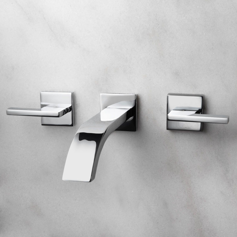 Ultra Wall-Mount Bathroom Faucet - Lever Handles | Wall mount ...