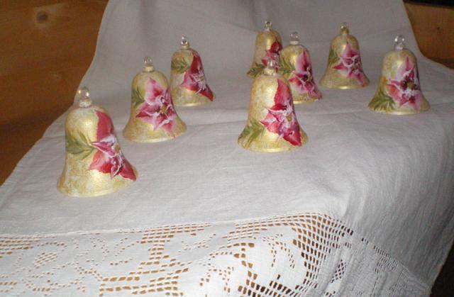 Decoupage Tavolo ~ Campanelle segnaposto per la tavola di natale natale christmas
