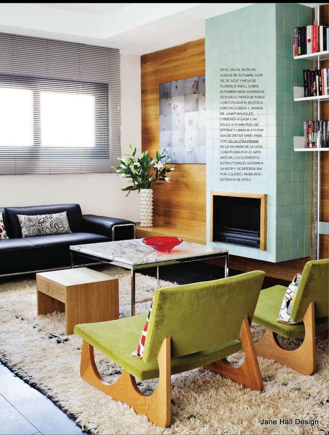 Mid Century Modern inspired living room Todays designers have been