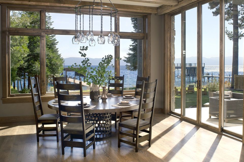 Lake Tahoe Dining Room Set Cool Inside A Stylish Mountain Home On Lake Tahoe Designedjeff Design Ideas