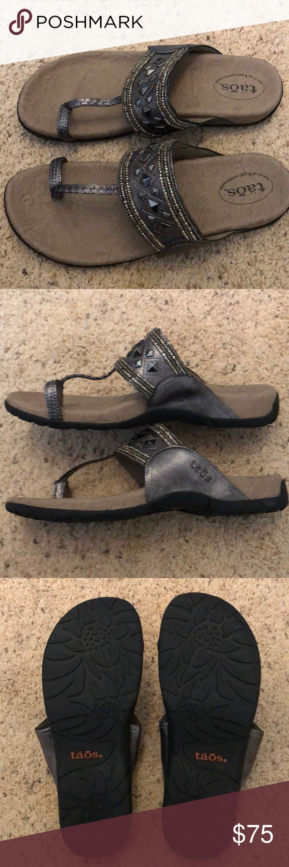 Beautiful, New Taos Genie Sandals. Size