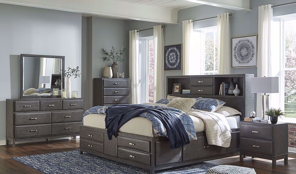 caitbrook king storage bedroom set  bedroom sets