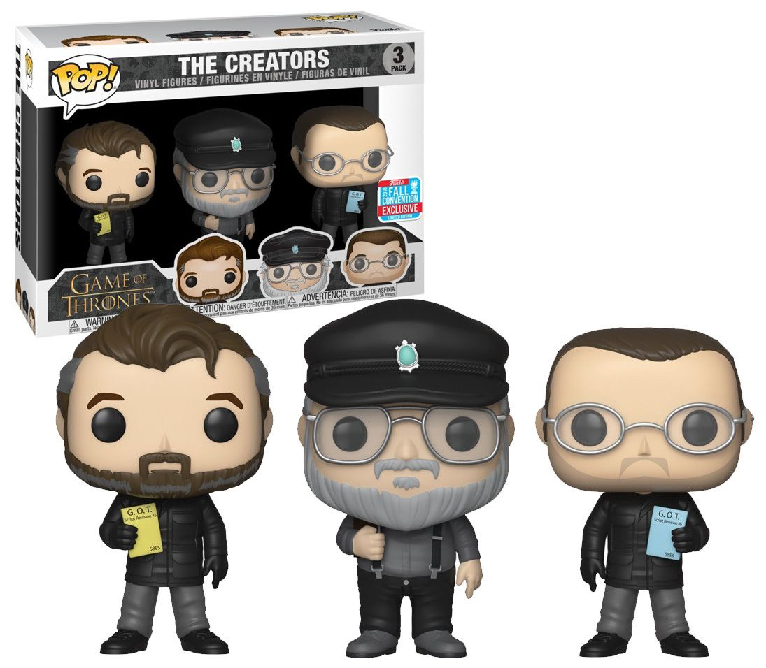 The Creators 3 Pack 2018 NYCC Fall Exclusive Game of Thrones Funko POP!