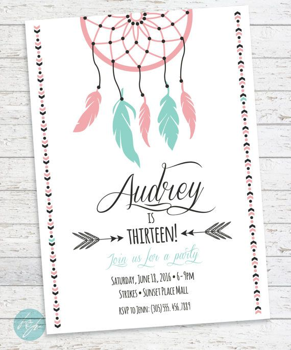 Boho birthday invitation aztec tribal invitation bohemian hey i found this really awesome etsy listing at httpsetsy listing289745871boho birthday invitation aztec tribal stopboris Gallery