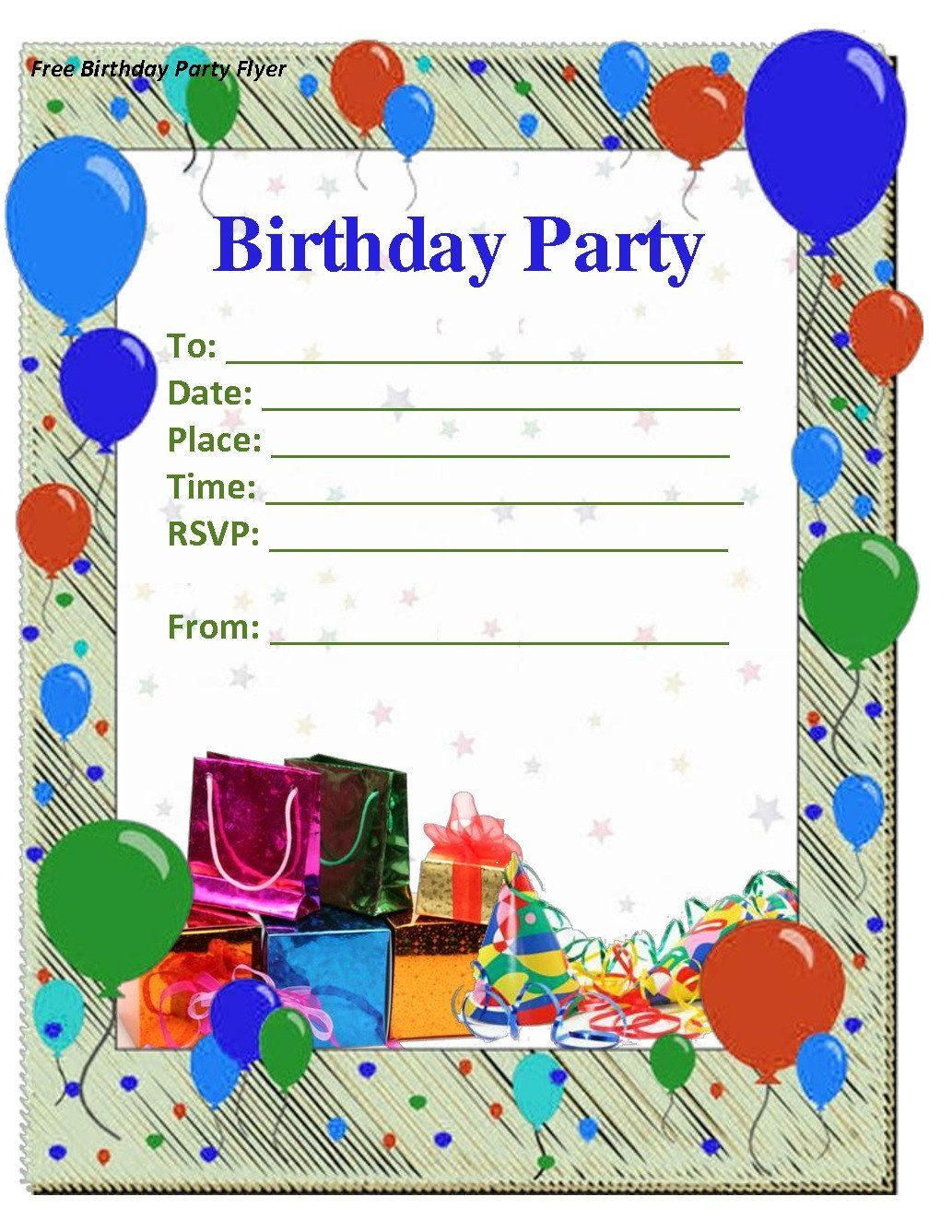Printable Birthday Invitation Cards Elegant Kulasara 5 New Party