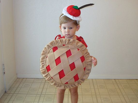Halloween Lattice Pie Costume Strawberry Cherry Soft Baby One Piece