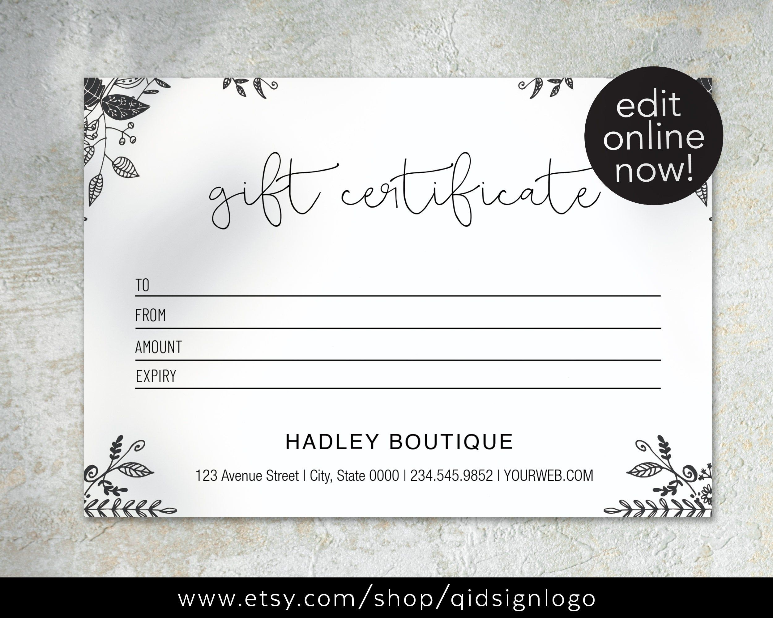 Gift Card Template Editable Gift Card Printable Gift Card Gift Certificates Diy Voucher Printable Gift Cards Printable Gift Certificate Gift Card Template