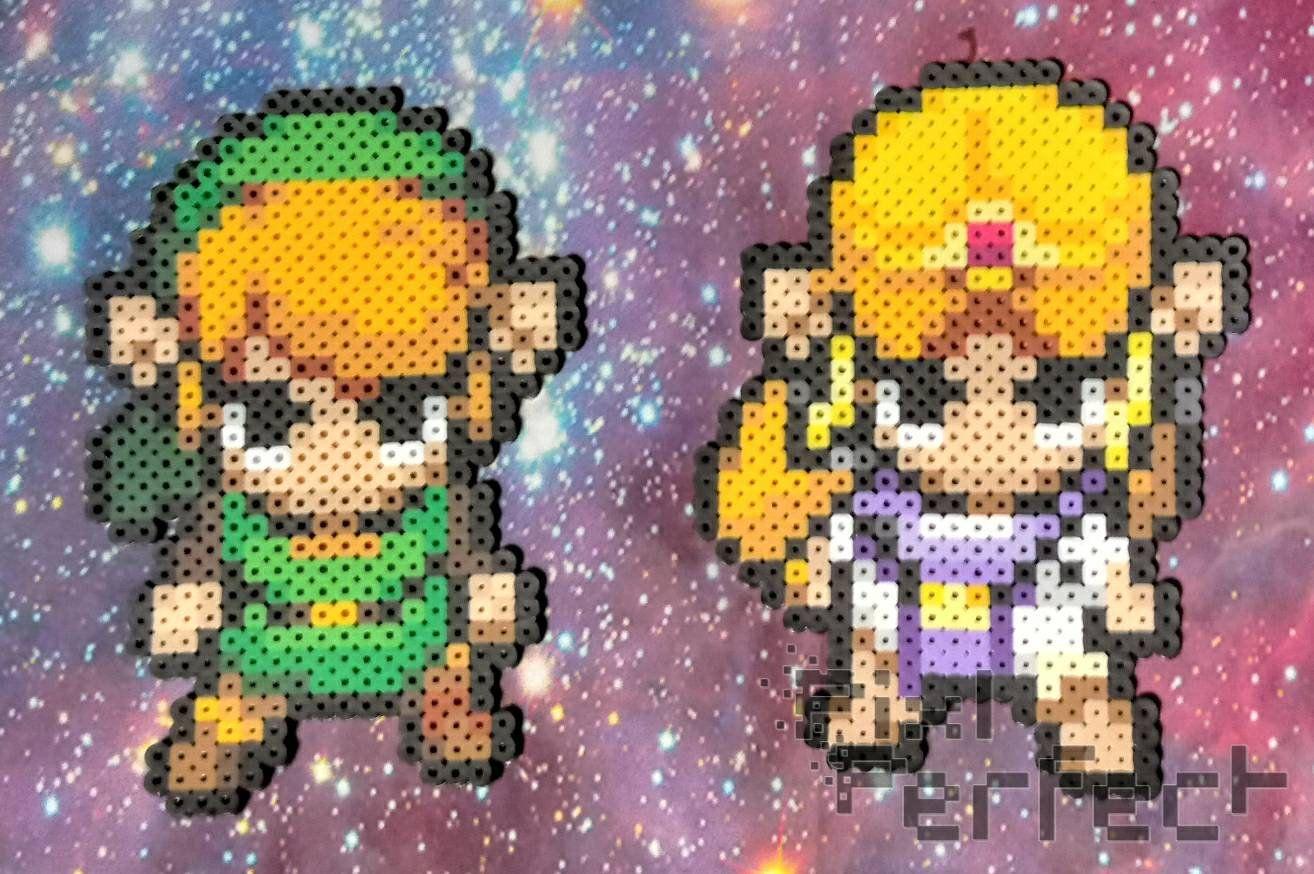 Cadence Of Hyrule Link And Zelda Perler Bead Sprites By