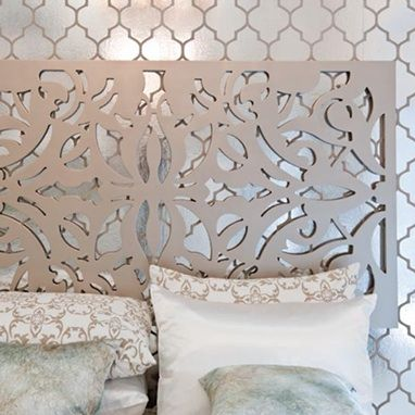 Amazing Brocade Home | Lace Pattern Wall Art Champagne. Decorative ...