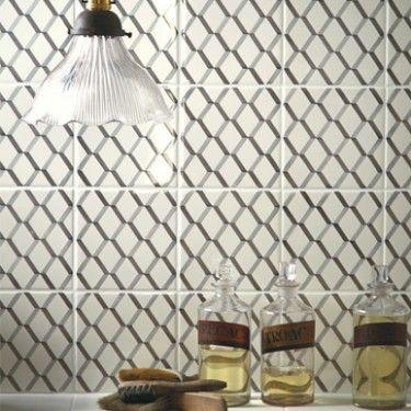 Petal trellis wall wall floor tiles fired earth for Fired tiles
