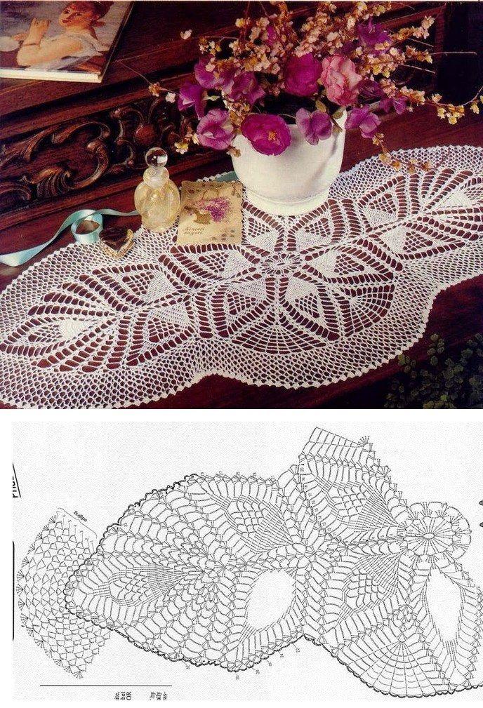 free crochet pattern ...♥ Deniz ♥ | tejidos | Pinterest | Deckchen ...
