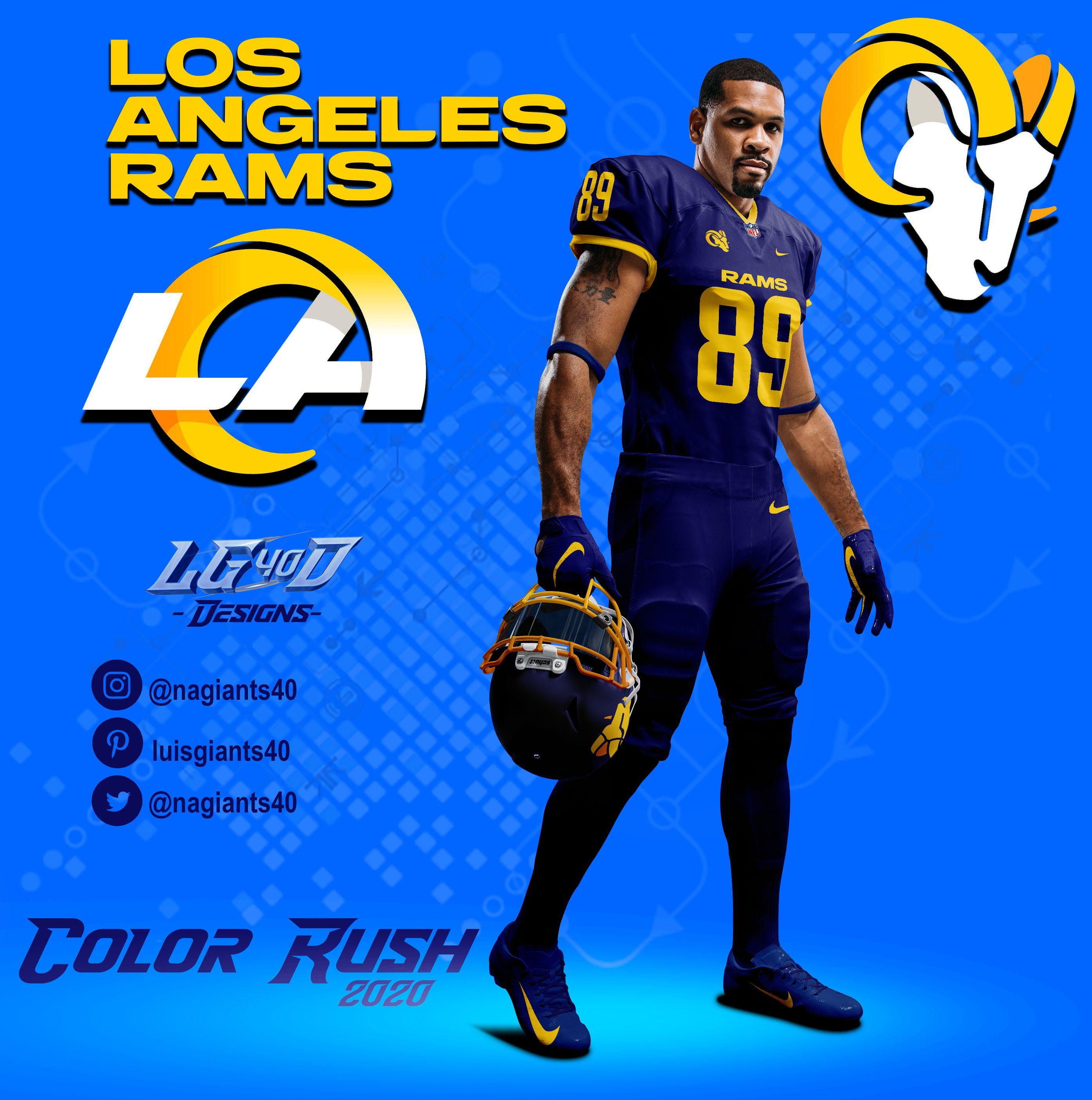 nfl color rush jerseys rams