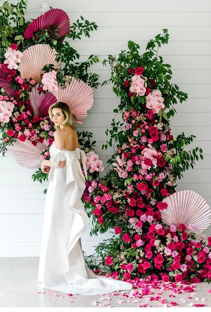 42 Most Pinned Wedding Backdrop Ideas 2019 ❤ wedding backdrop ideas floral backdrop danafernandezphoto #weddingforward #wedding #bride