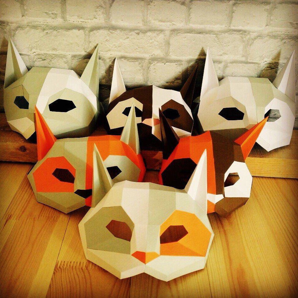 DIY Cat Mask/Paper Cat Mask/DIY Mask/Fancy Dress/Halloween