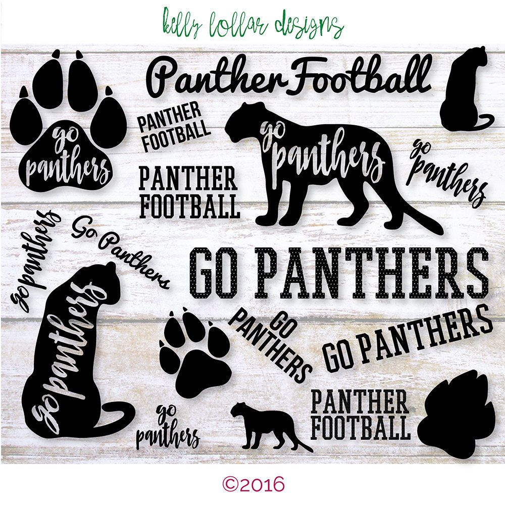 Panthers SVG Cut File Pack with 9 Panther Designs for High ...