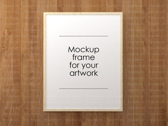 Mockup Frame Vertical And Horizontal Empty Frame Poster Photo