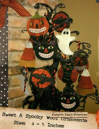 Sweet & Spooky Wool Ornaments