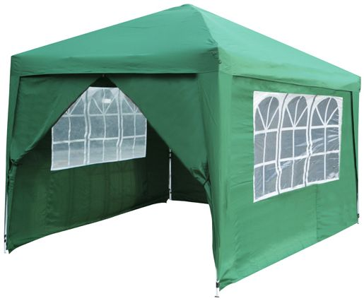 Budget 3m x 3m Foldable Pop Up Gazebo with Sidewalls and