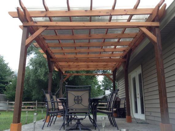 Covered Pergola Plans 12x18 Outside Patio Wood Design Etsy Outdoor Pergola Pergola Plans Backyard Pergola