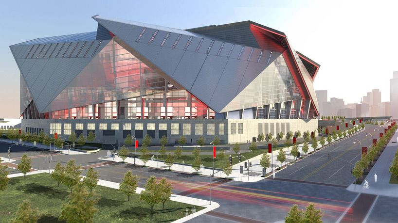 Modern Architecture Atlanta 360 architecture covers new atlanta stadium with 8-sided