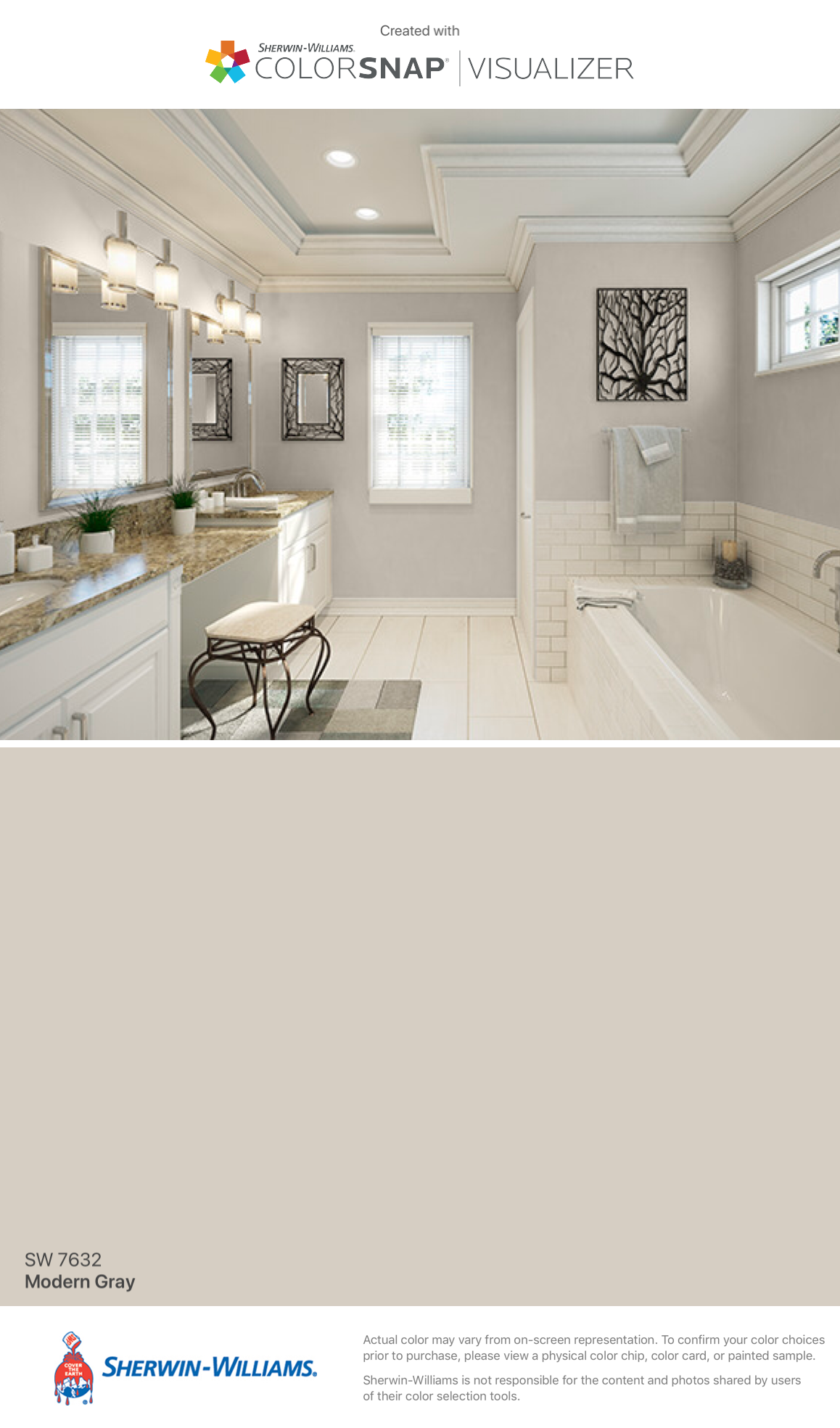 I Found This Color With Colorsnap Visualizer For Iphone By Sherwin Williams Modern Gray Sw 7632
