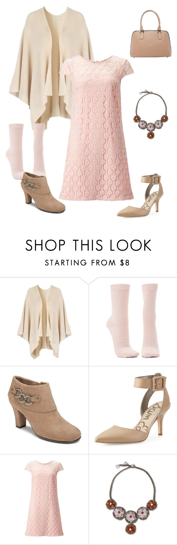 """""""Outfit"""" by sunshower315 on Polyvore featuring Charlotte Russe, A2 by Aerosoles, Sam Edelman, Miss Selfridge, NOVICA and SUSU"""