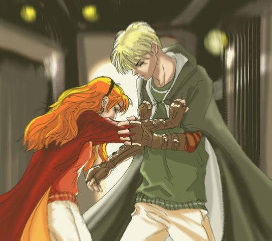 Draco And Ginny Fan Art Match Point Harry Potter Draco Malfoy Rose And Scorpius Harry Potter Fanfiction