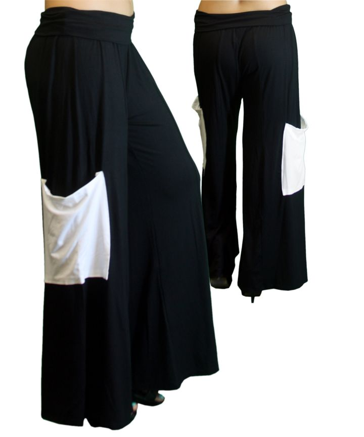 19cfaccb41 PALAZZO PANTS WITH SIDE POCKET. MATERIAL  96% RAYON