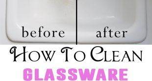 How to clean glassware and porcelain