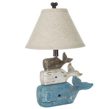 Stacked Whales Lamp Whale Themed
