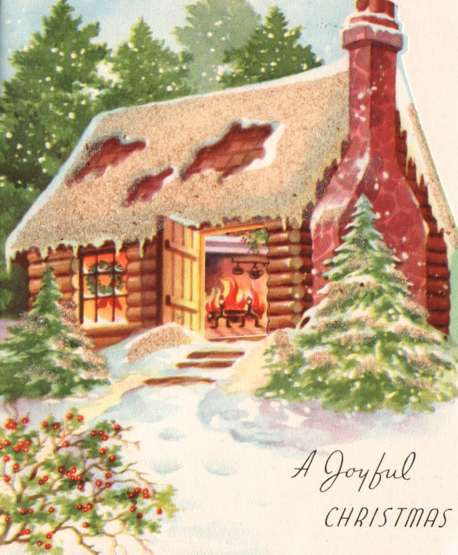 Log Cabin Christmas.Cabin Christmas Cards Christmas Cards