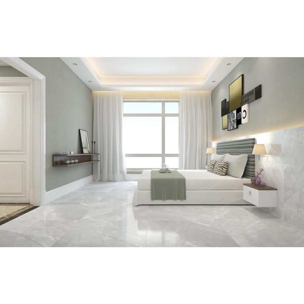 Melrose Gray Polished Porcelain Tile In 2020 Grey Polished Porcelain Tiles Polished Porcelain Tiles Luxury Bedroom Master
