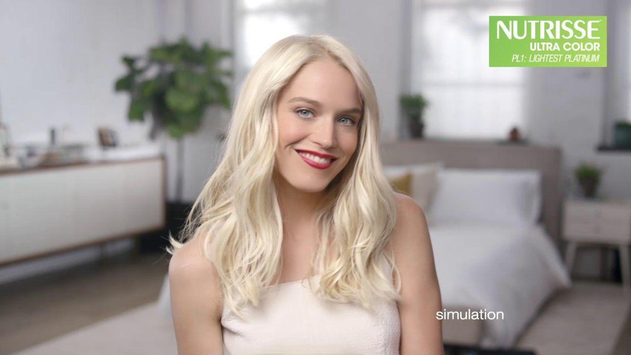 Go Platinum With Nutrisse Ultra Color Garnier Hair Color Youtube