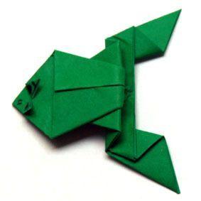 frosch 2 falten pinterest origami origami frosch. Black Bedroom Furniture Sets. Home Design Ideas