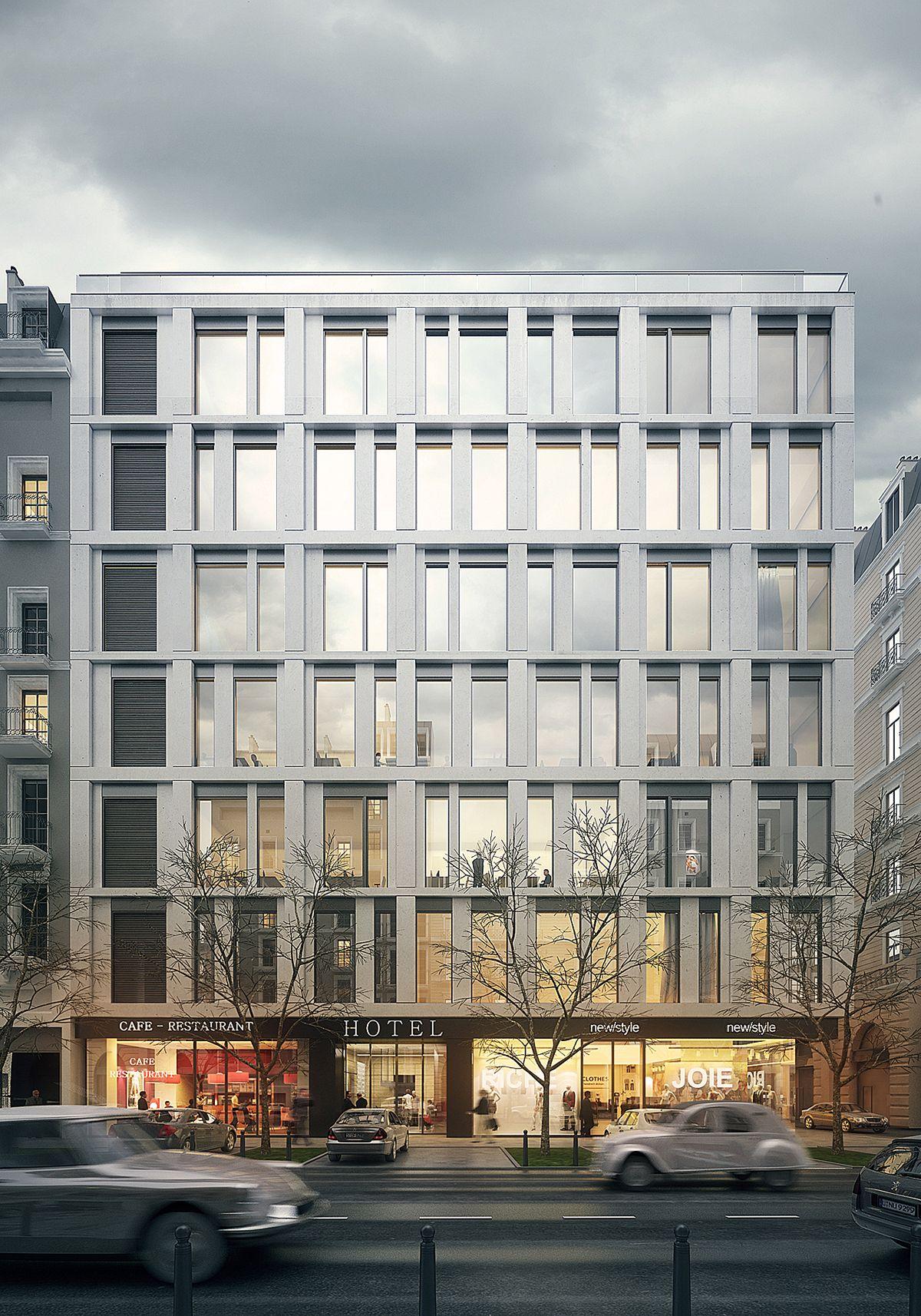 Hotel Behance Retouch Gewerbearchitektur