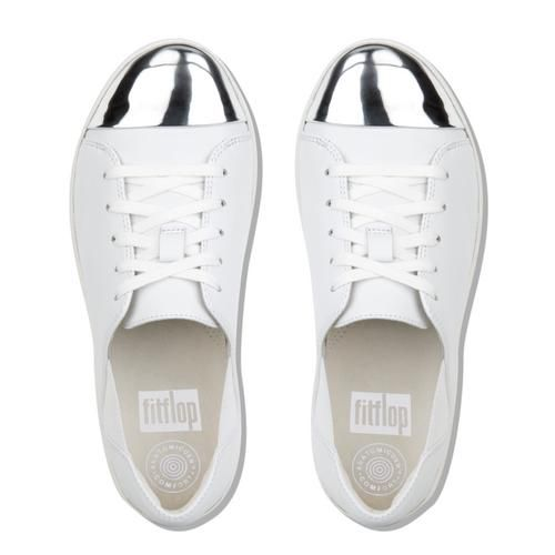 232e0b3e1ff0b0 F-SPORTY MIRROR-TOE LEATHER LACE-UP SNEAKERS Urban White FitFlop Official  Online Store