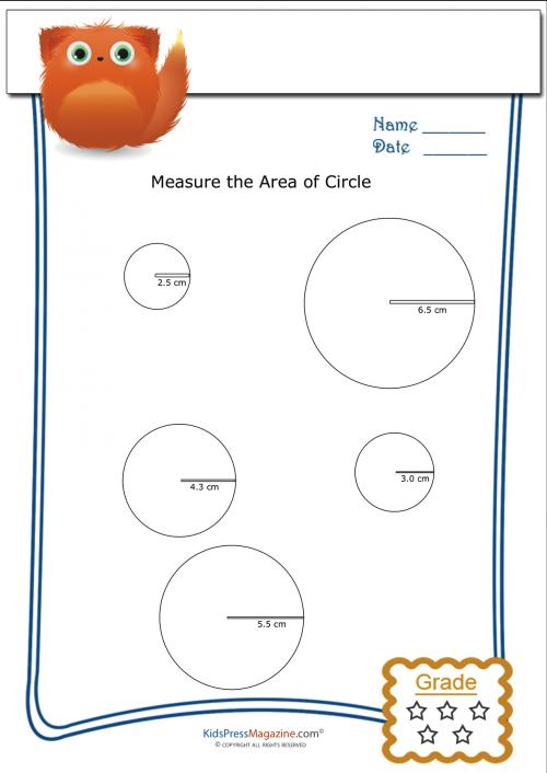 Measuring Area Worksheet Circles 3 Geometry Pinterest Area