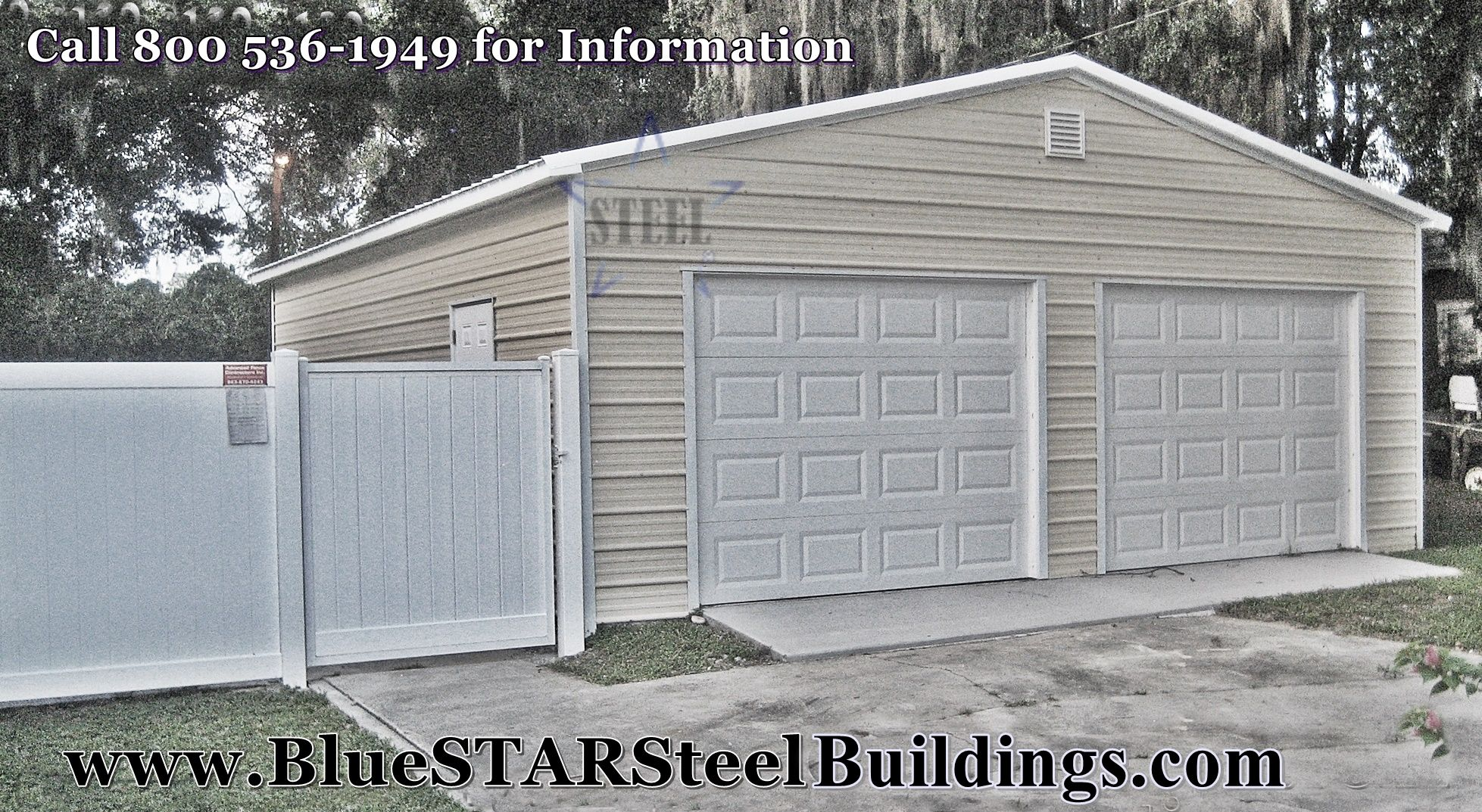 Two car garage - low cost garage - steel garage - call for a quote 1 ...