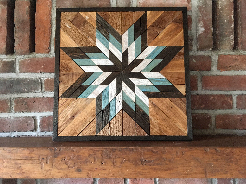 Reclaimed Wood Wall Art Lone Star Twist Barn Star In