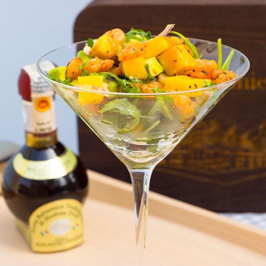 aceto balsamico tradizionale di Modena. Cocktail di gamberi, mango ed avocado. Oggi cucina Mirco