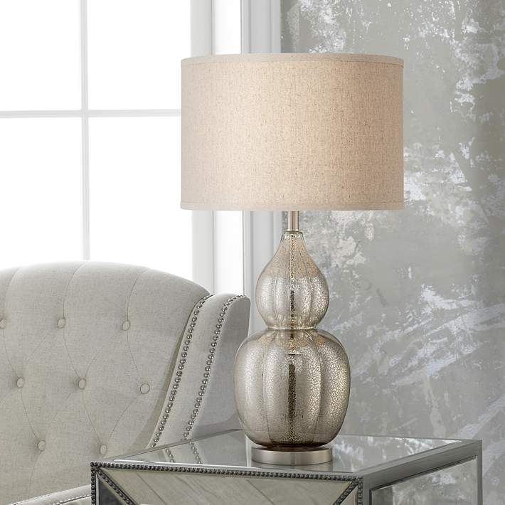 Exceptionnel Jackie Fluted Mercury Glass Table Lamp   #4F712 | Lamps Plus
