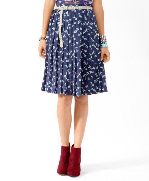 cute bird print skirt