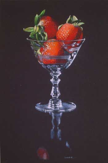 It S Like A Photograph Kay M Dewar Artist Strawberries On Black