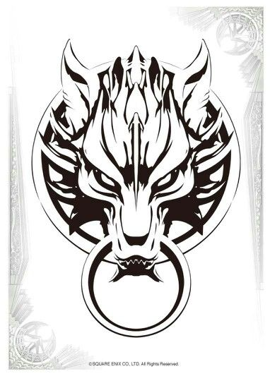 Wolf Design Classic Tattoo Final Fantasy Tattoo Final Fantasy