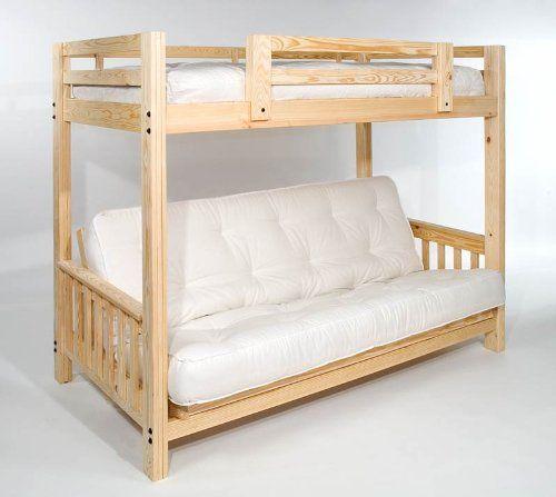 Futon Bunk Bed Complete W Two 9 Mattresses Eco Friendly