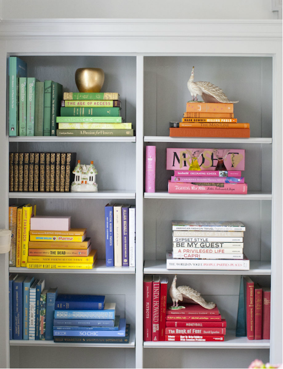 Color Pop Bookshelves The Coordination Is Out Of This World