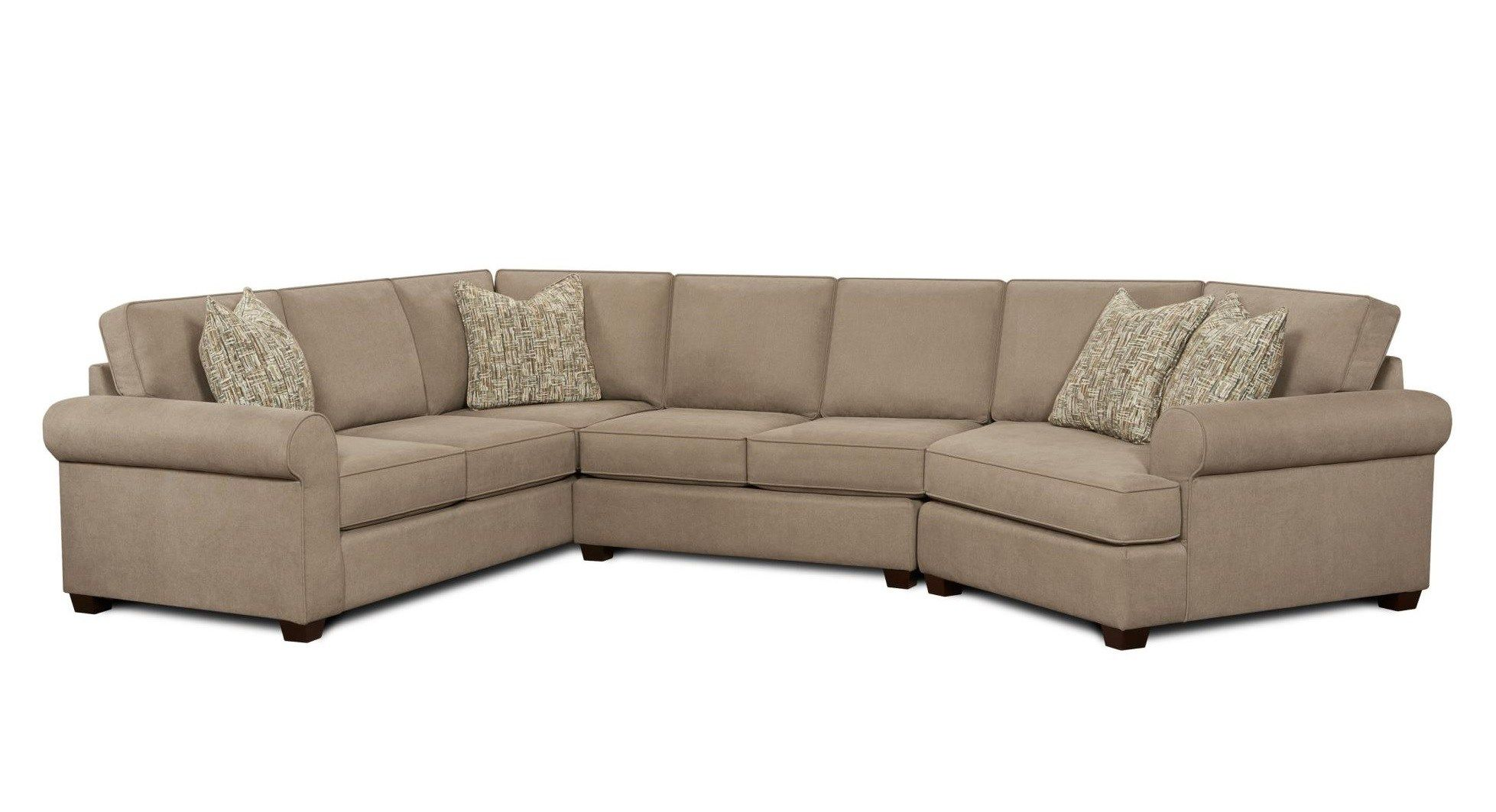 Sectional Sofa In Hugo Taupe Mcgregors Furniture Great Room