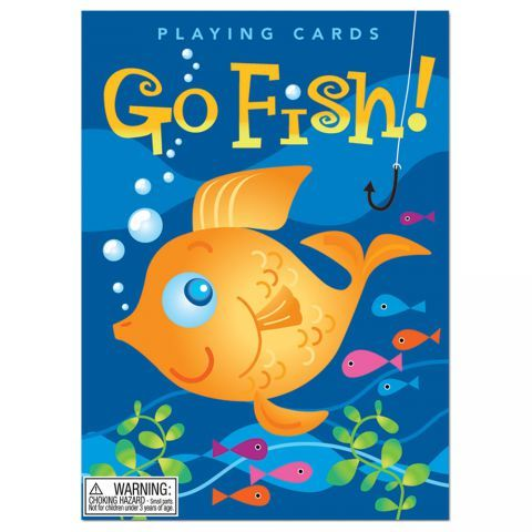 Go Fish Card Game Card Games For Kids Fishing Cards Playing Card Games