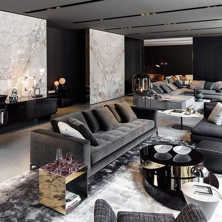 Brand New Minotti Store In Munich Design Interior Architecture Living Room Design Modern Luxury Sofa Design Luxury Home Decor