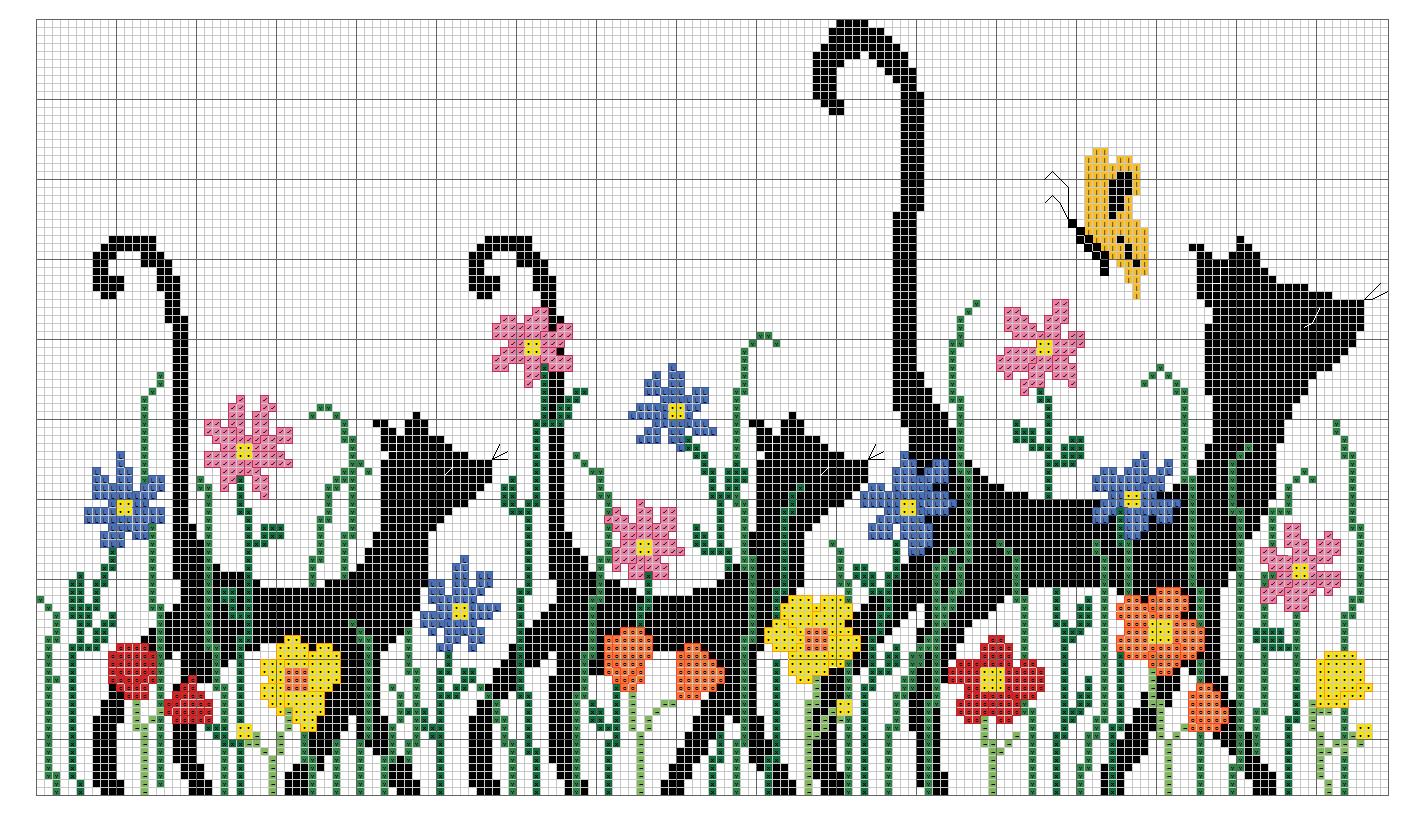 Kreuzstich | Crochet Graphs 1 (Corona) | Pinterest | Gato, Punto de ...